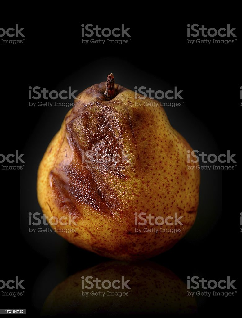 almost rotten pear 2 royalty-free stock photo