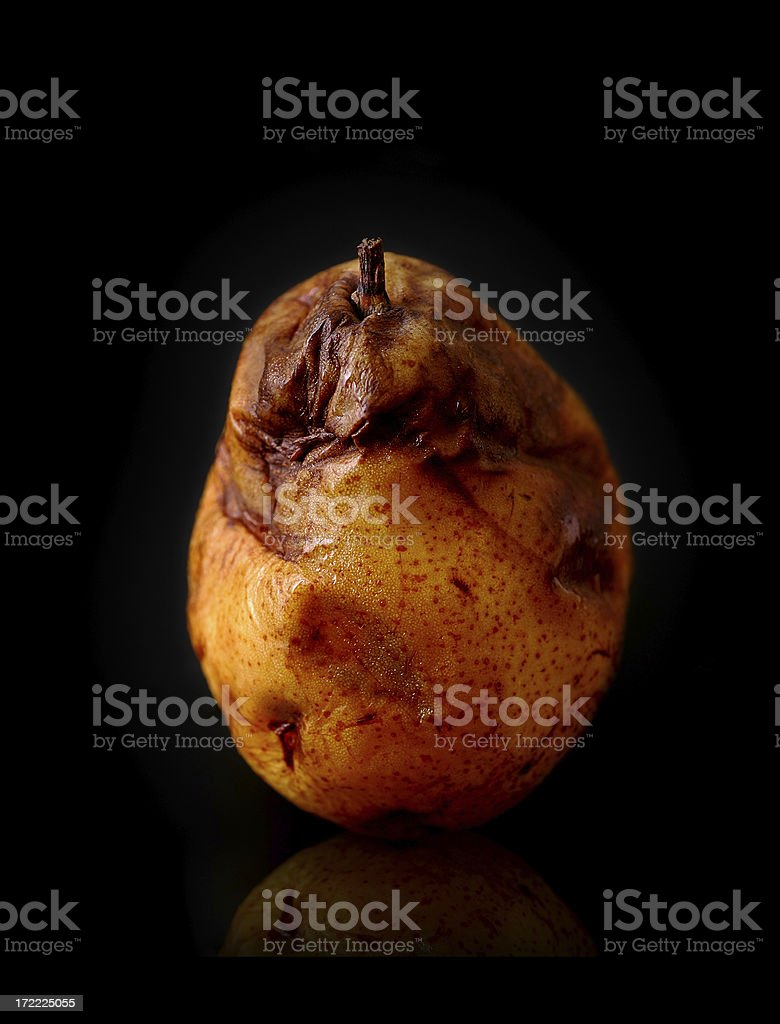 almost rotten pear 3 royalty-free stock photo