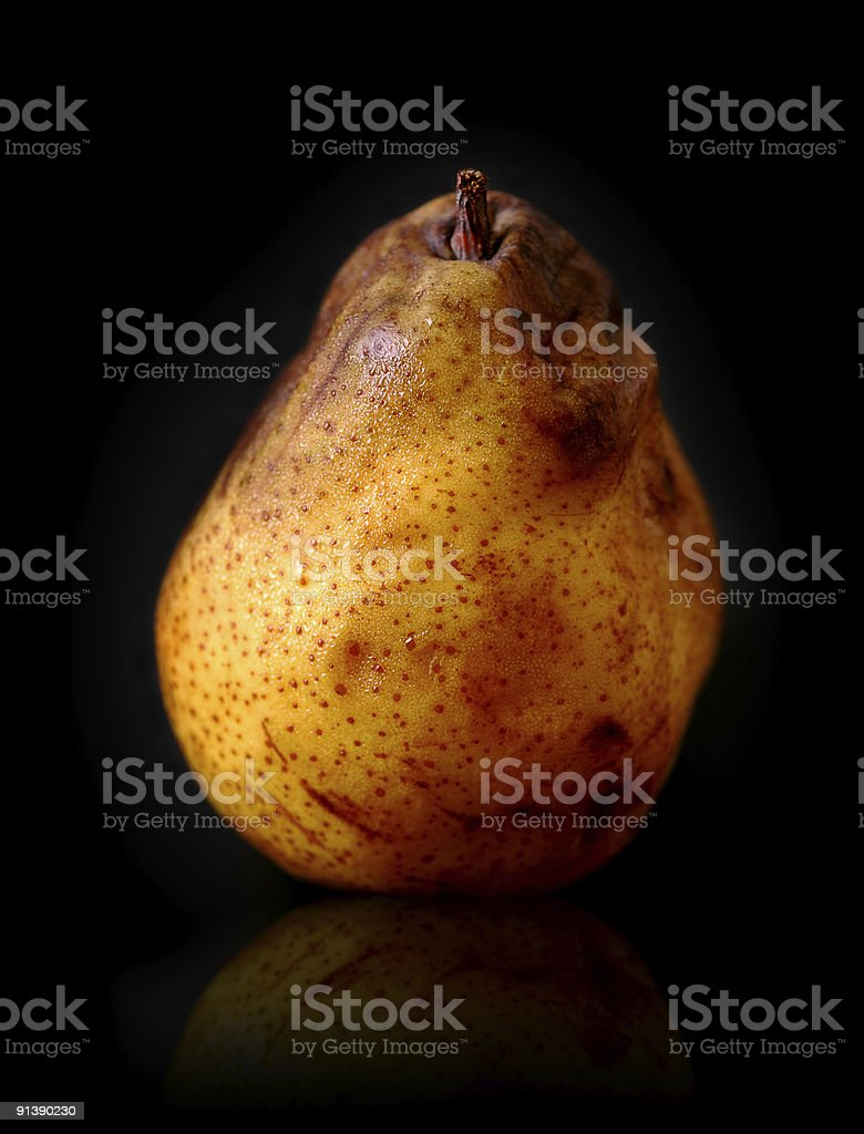 almost rotten pear royalty-free stock photo