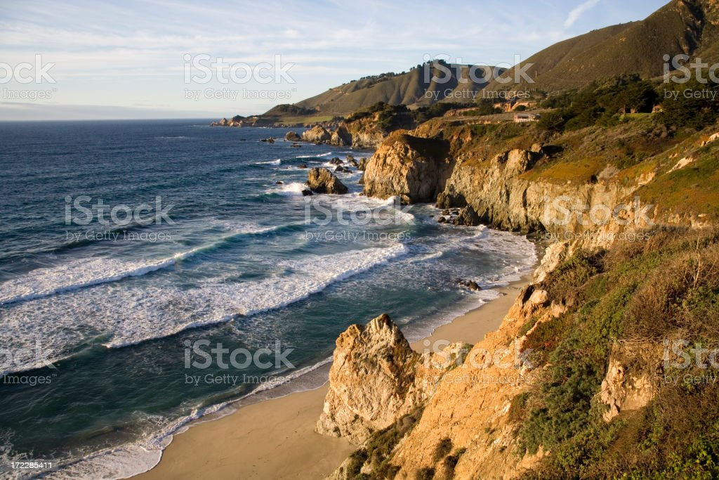 Almost Sunset at Big Sur royalty-free stock photo
