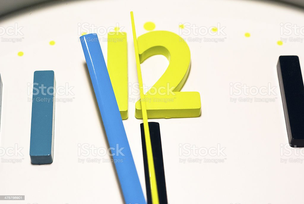 Almost twelve stock photo