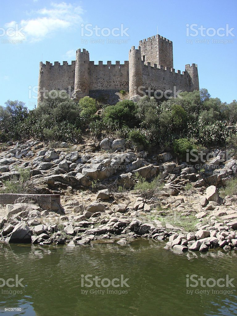 Almourol Castle in Portugal stock photo