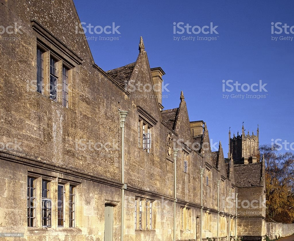 Almshouses, Chipping Campden, Cotswolds, UK. royalty-free stock photo