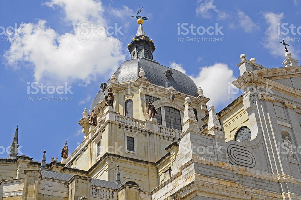 Almudena Cathedral from Madrid, Spain royalty-free stock photo