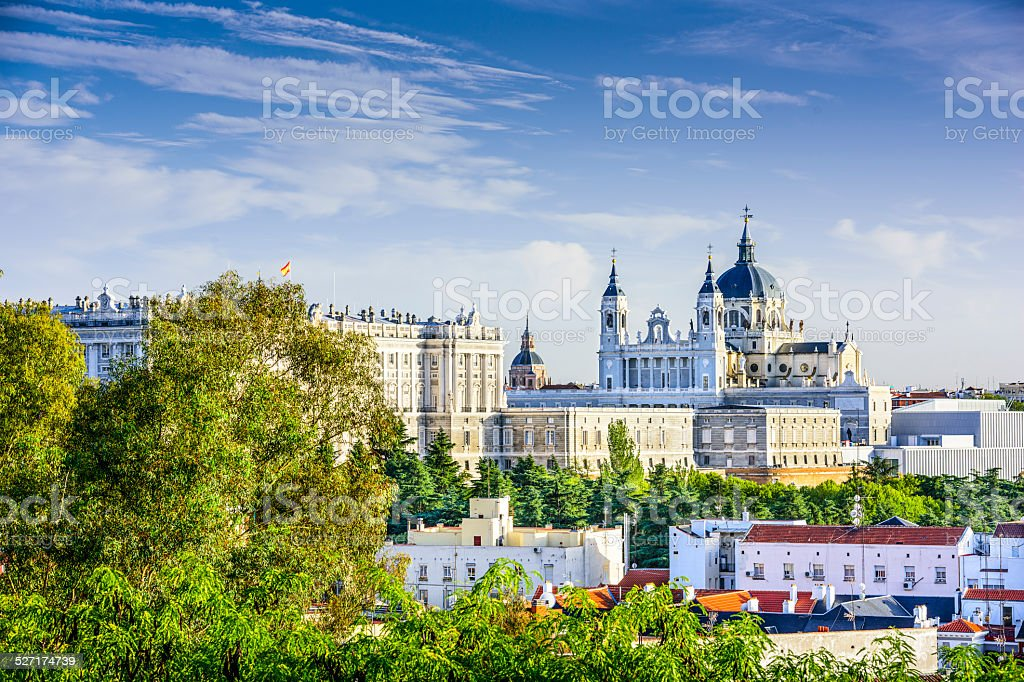 Almudena Cathedral of Madrid, Spain stock photo