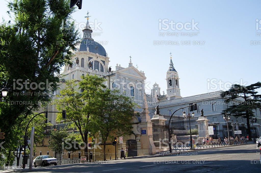 Almudena Cathedral stock photo