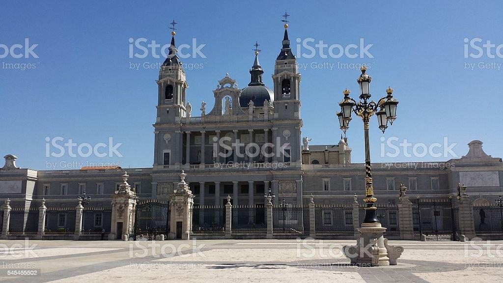 Almudena Cathedral, Spain stock photo