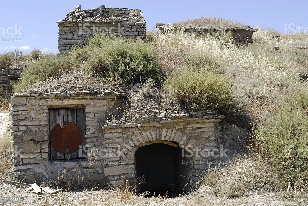 Almudevar (Huesca, Aragon, Spain) - Bodega royalty-free stock photo