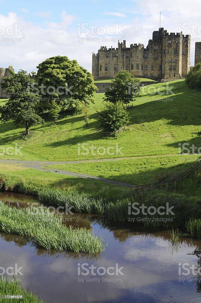 Aln River, Northumberland stock photo
