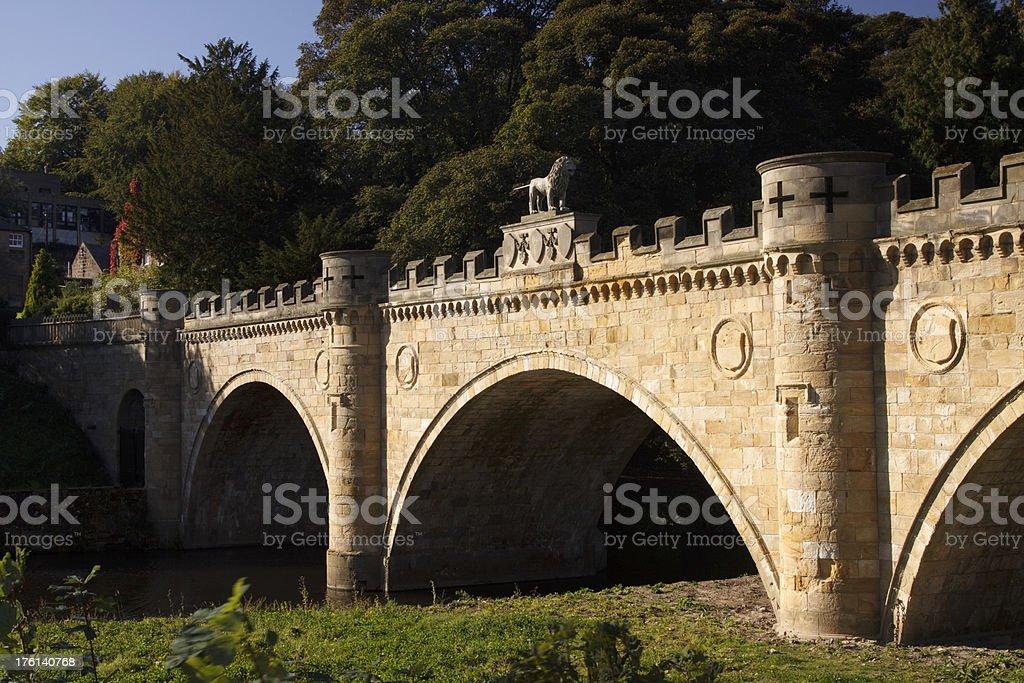 Alnwick Bridge stock photo