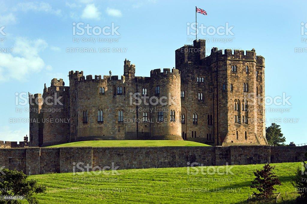 Alnwick Castle - Alnwick in Northumberland - England stock photo