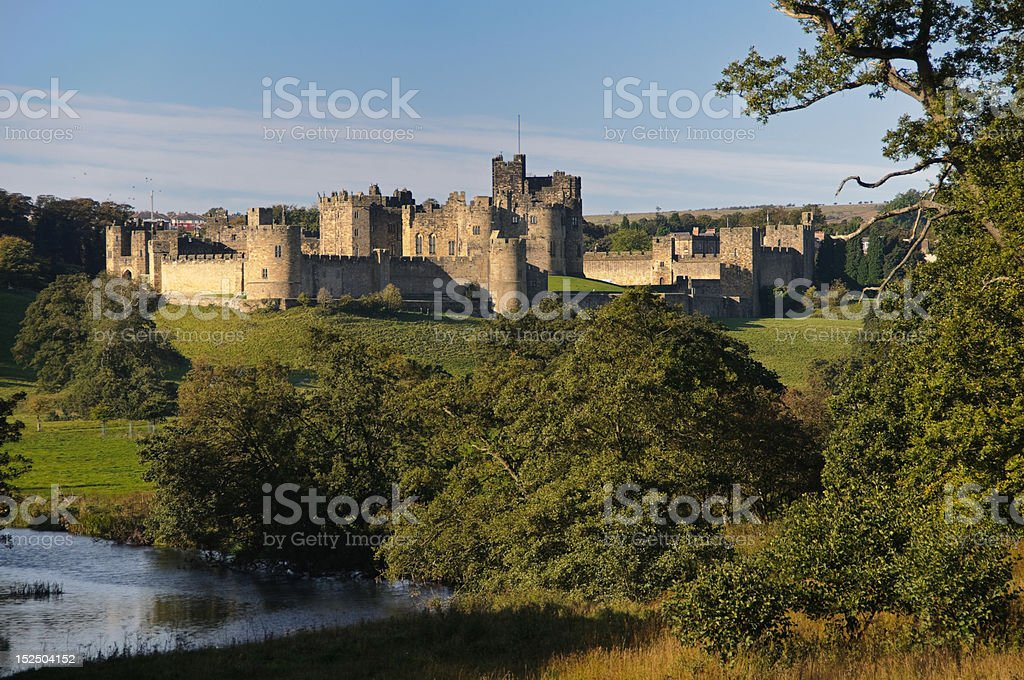 Alnwick Castle forest site stock photo