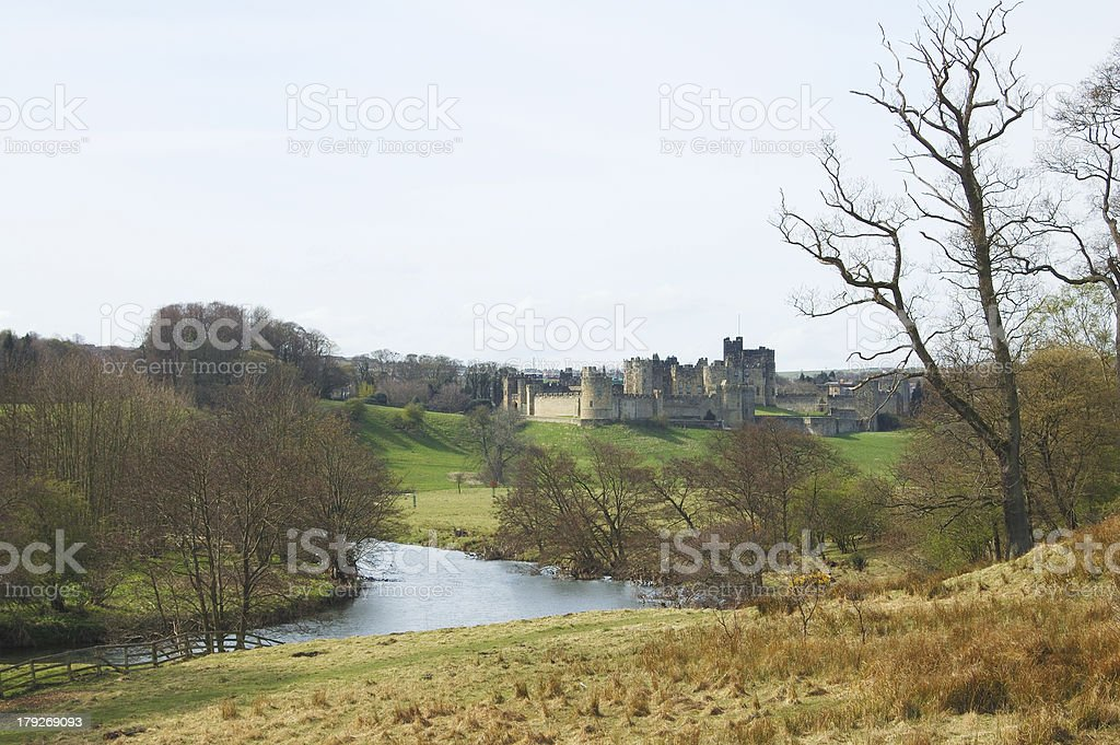 Alnwick Castle in early Spring royalty-free stock photo