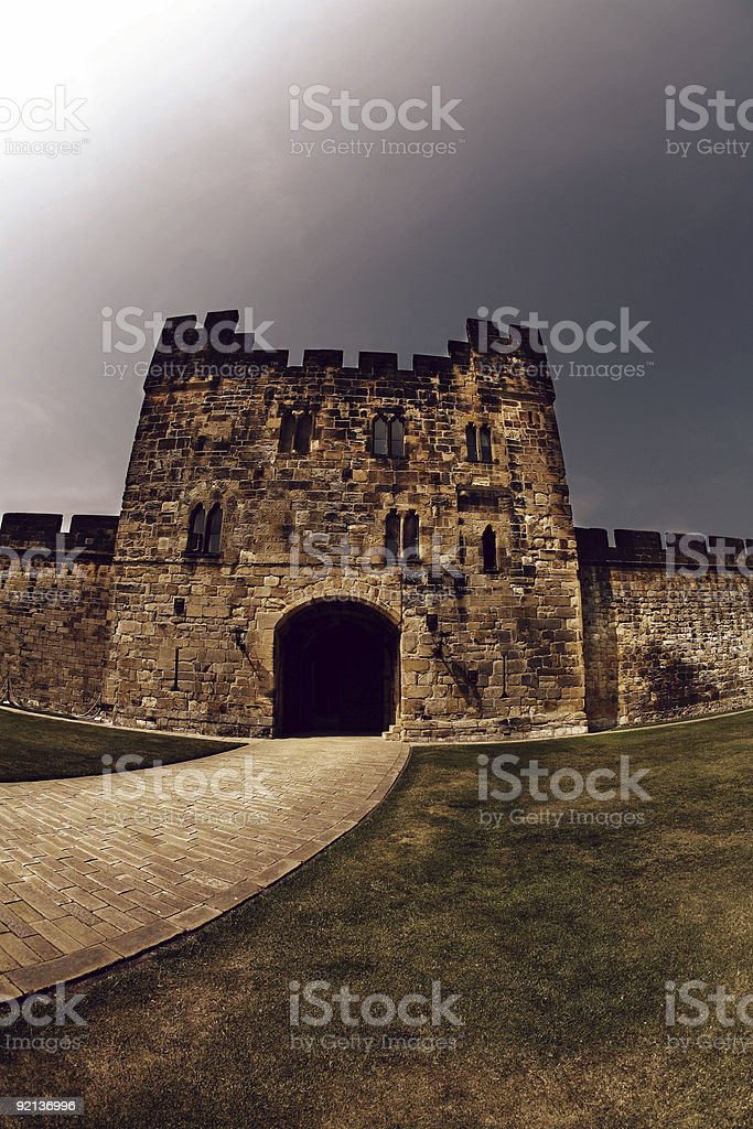 Alnwick Castle in England royalty-free stock photo