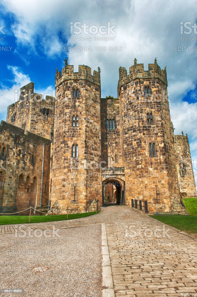 Alnwick Castle in Northumberland, UK stock photo