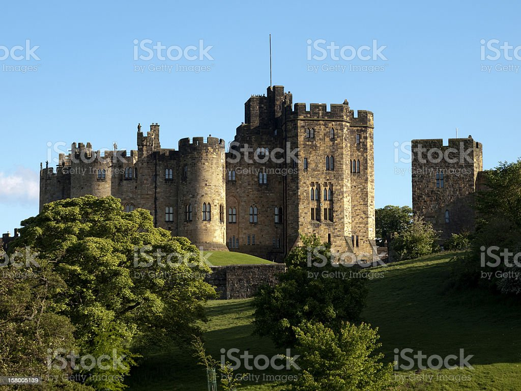 Alnwick Castle, Northumberland stock photo