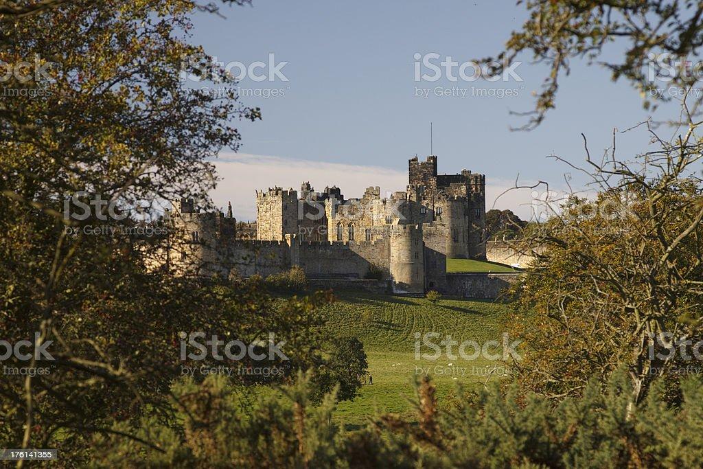 Alnwick Castle stock photo