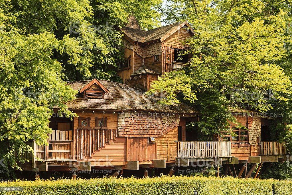 Alnwick Garden Tree House stock photo