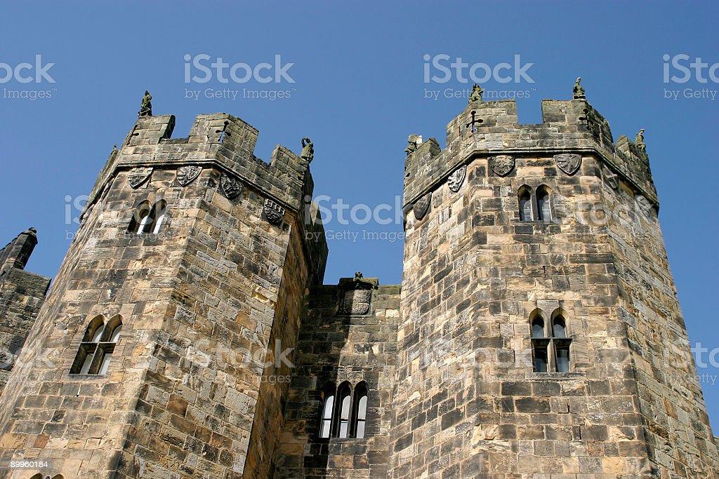 Alnwick Turrets royalty-free stock photo