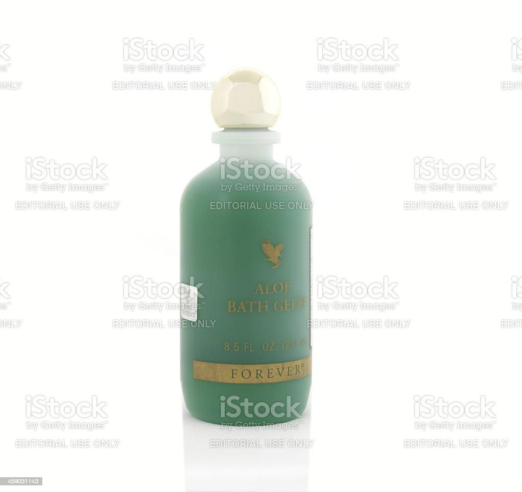 Aloe Bath Gel royalty-free stock photo