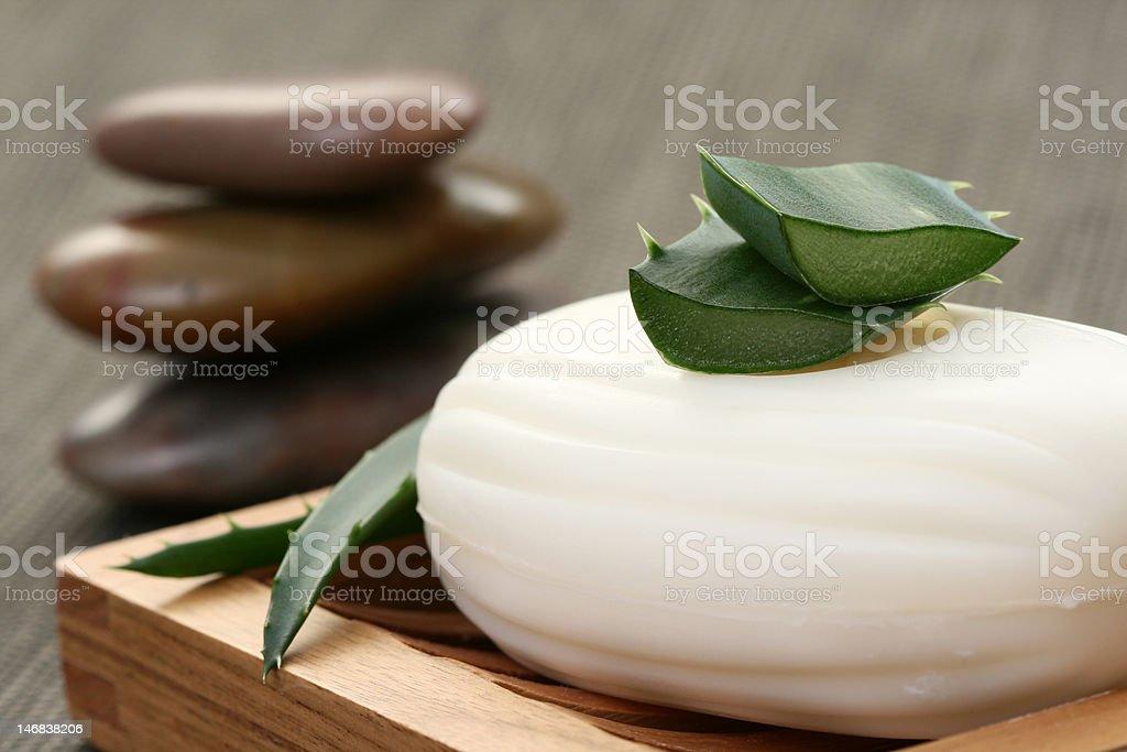 aloe vera soap royalty-free stock photo