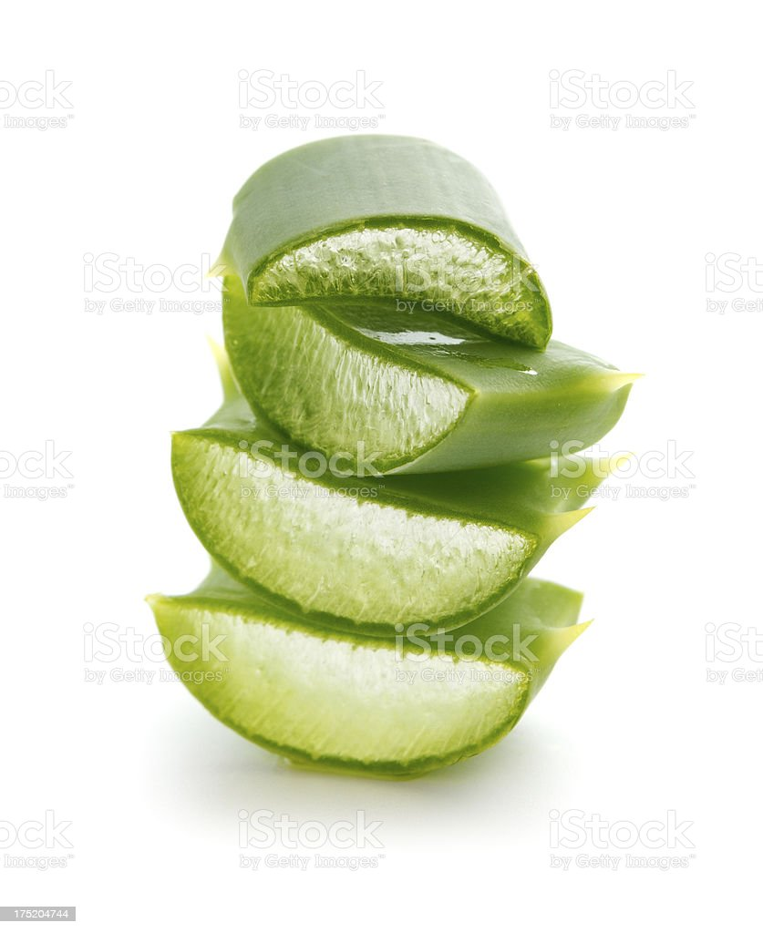 Aloe Vera, gel and texture stock photo