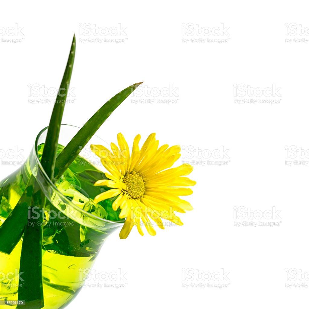 Aloe vera juice stock photo