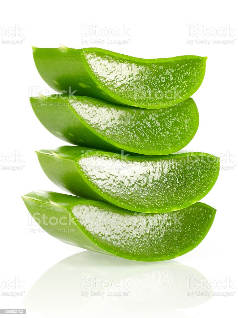 Aloe vera stack stock photo