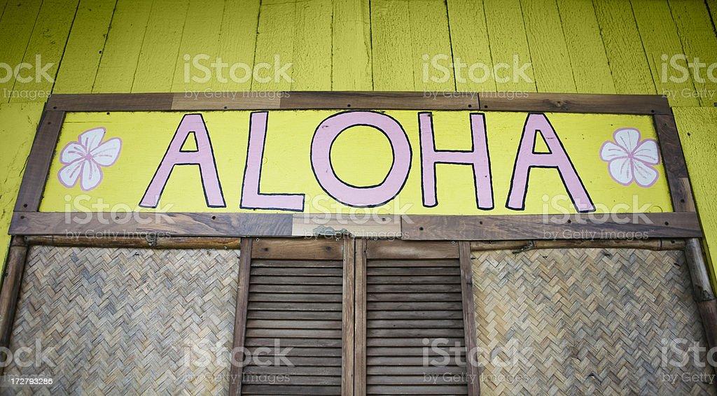 aloha greeting royalty-free stock photo