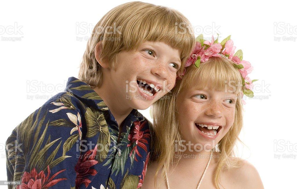 Aloha Twins royalty-free stock photo