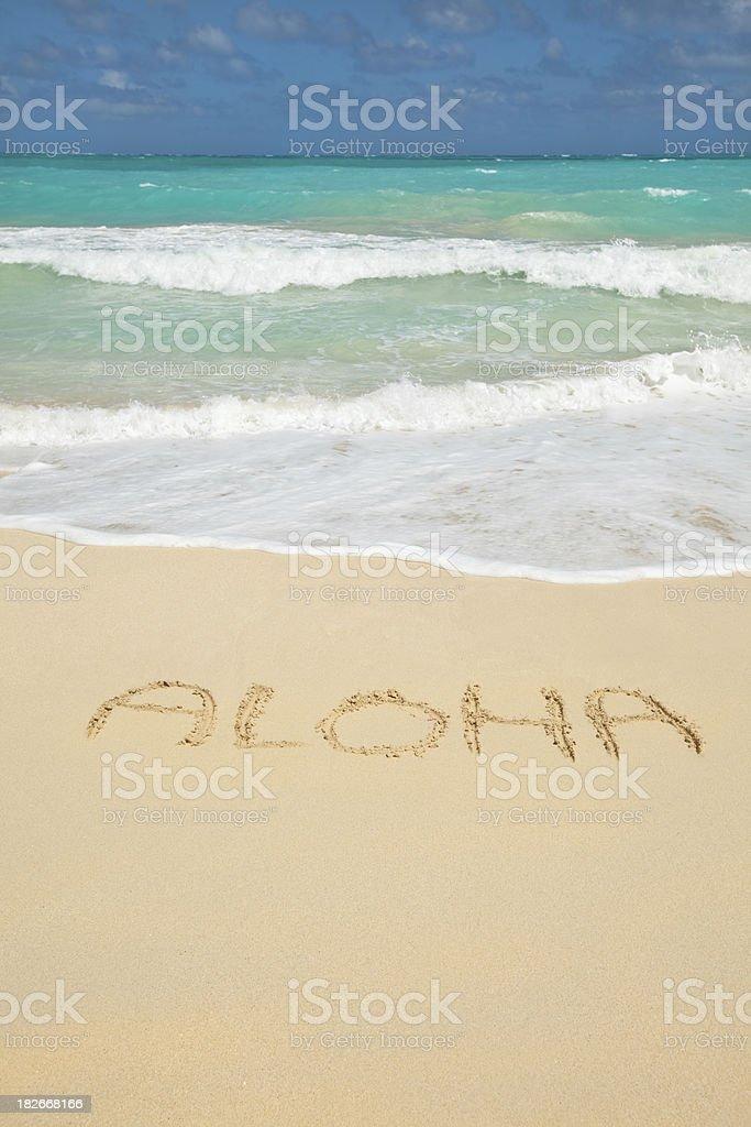 Aloha-Welcome to Hawaii! royalty-free stock photo