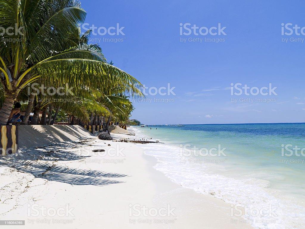 Alona Beach on Bohol Island royalty-free stock photo