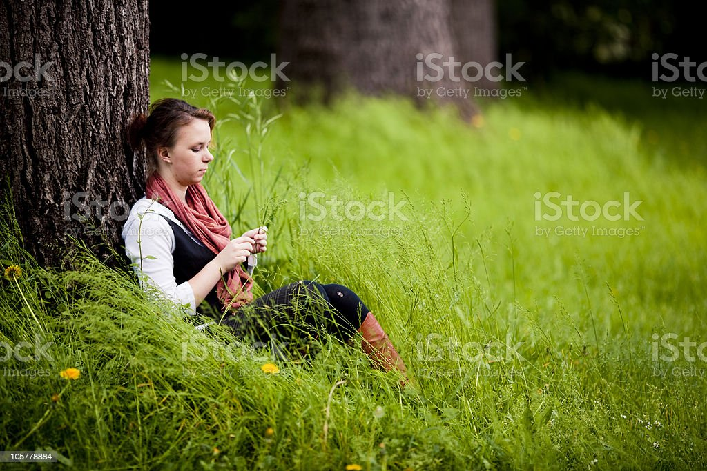 Alone and happy royalty-free stock photo