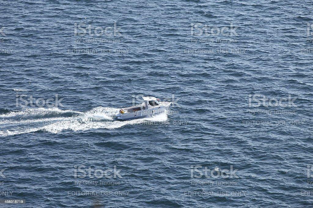 Alone at sea stock photo