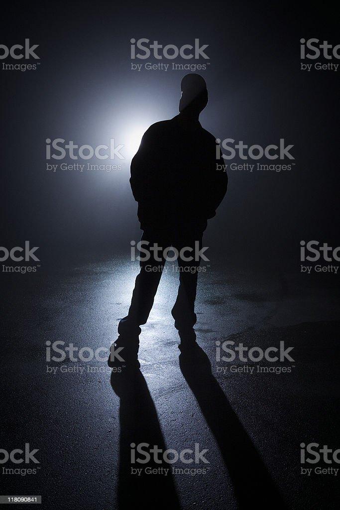 Alone bully in the dark royalty-free stock photo