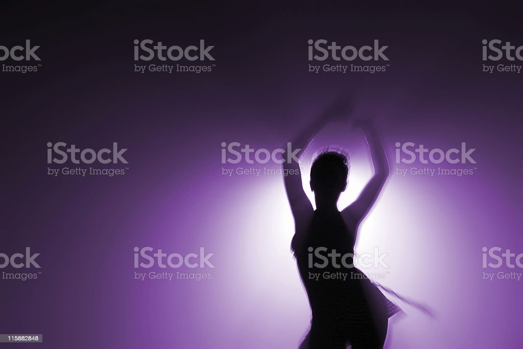 alone dancer royalty-free stock photo