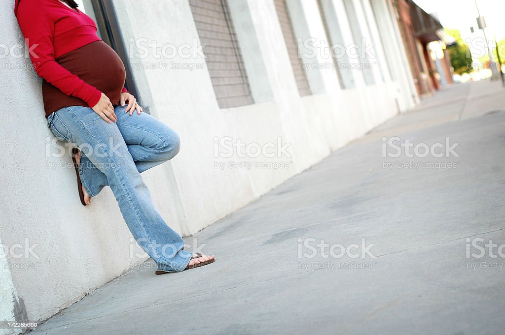 Alone Downtown royalty-free stock photo