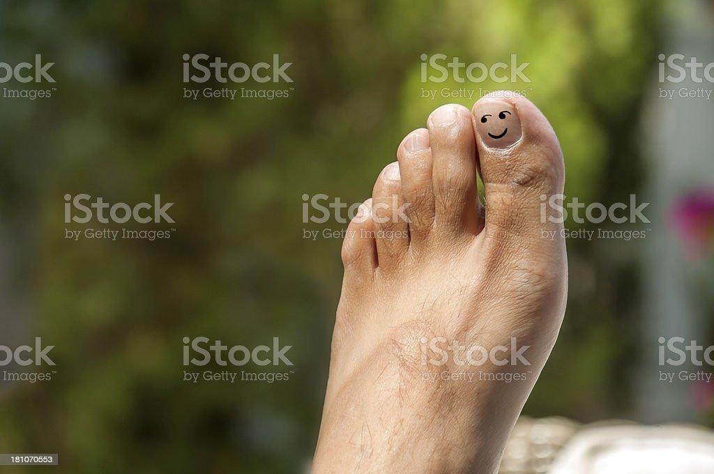 Alone foot royalty-free stock photo