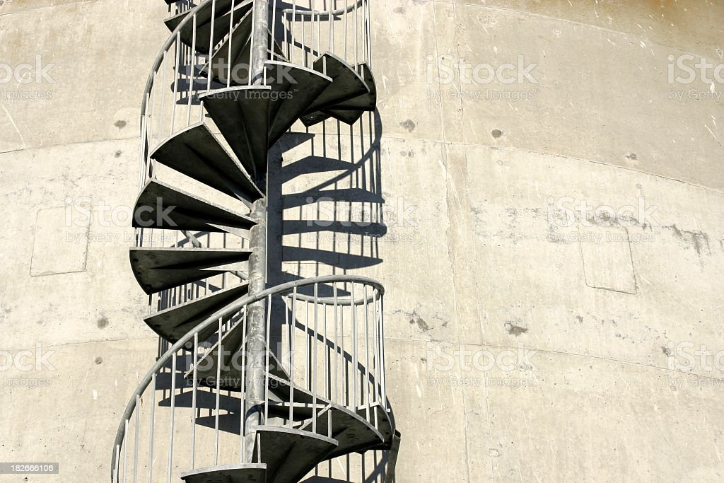 alone helix - winding /  spiral at industrial property royalty-free stock photo