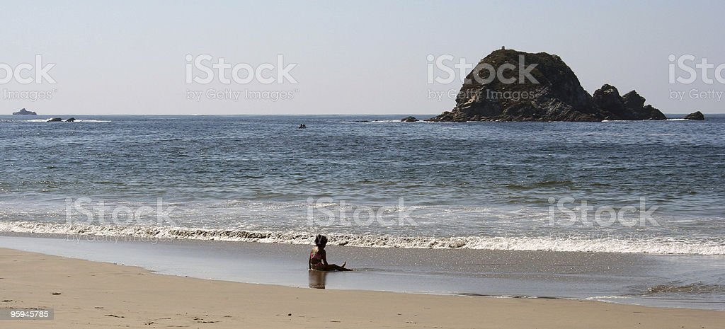 Alone in a big world royalty-free stock photo