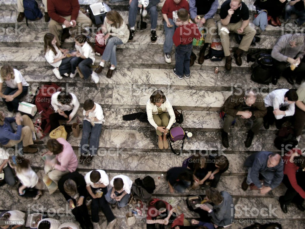 Alone in a Crowd stock photo
