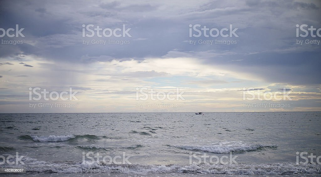 alone in midst of the cloud. stock photo