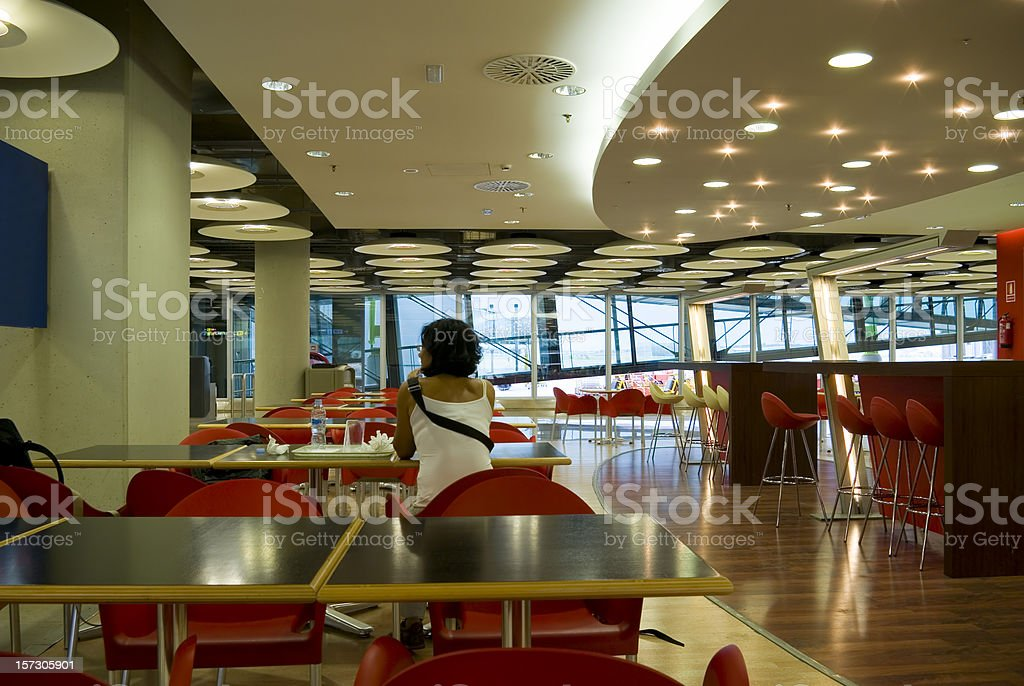 Alone in the airport stock photo