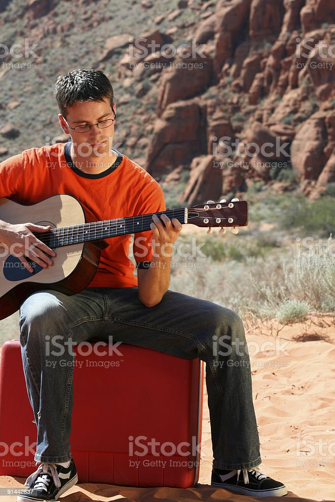 Alone in the Desert (RedRockalypse) stock photo