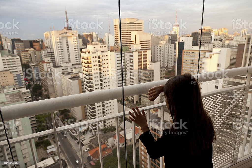 Alone in the metropolis royalty-free stock photo