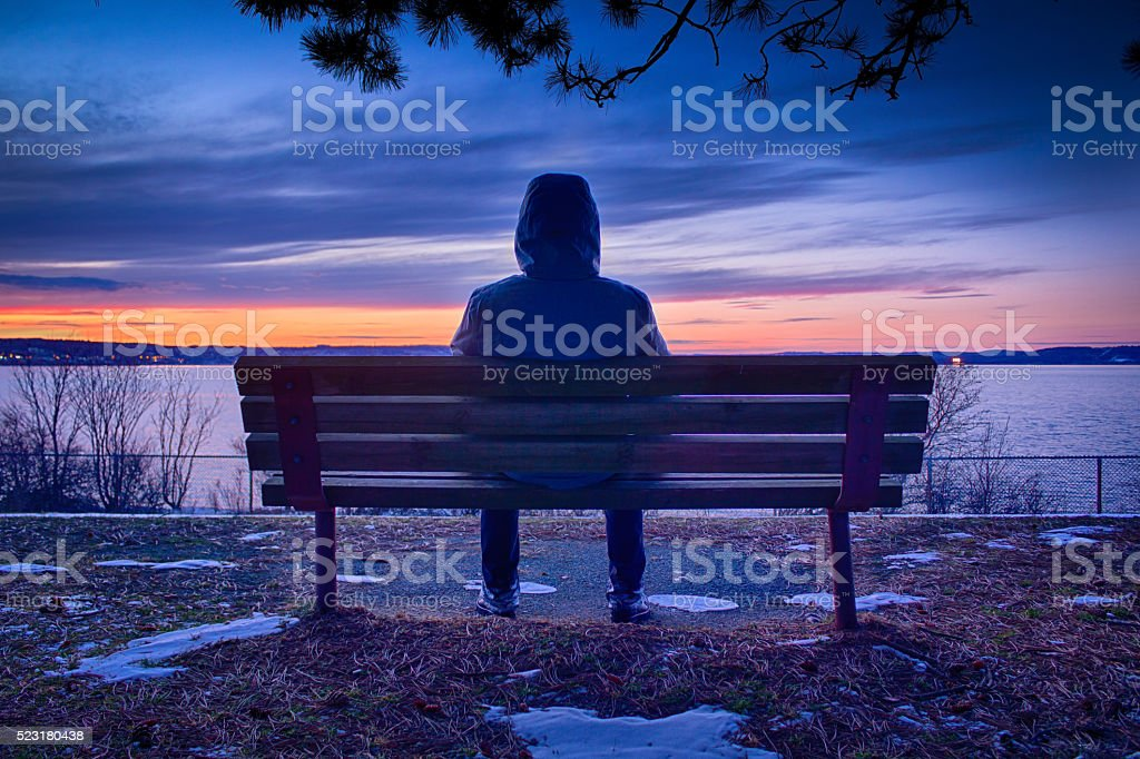 Alone in the Park stock photo