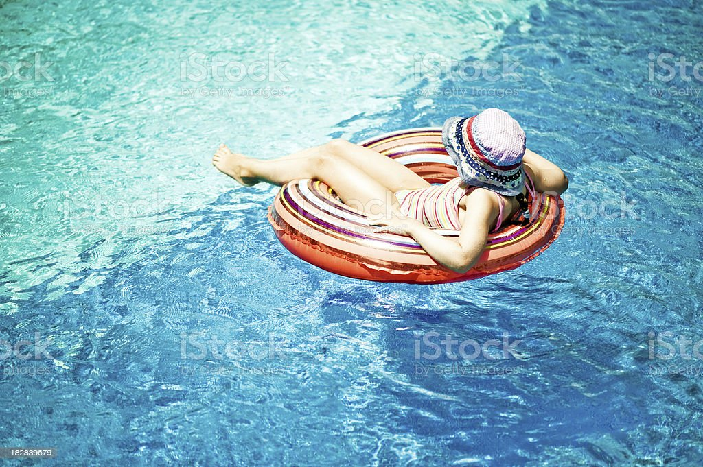 Alone in the pool royalty-free stock photo
