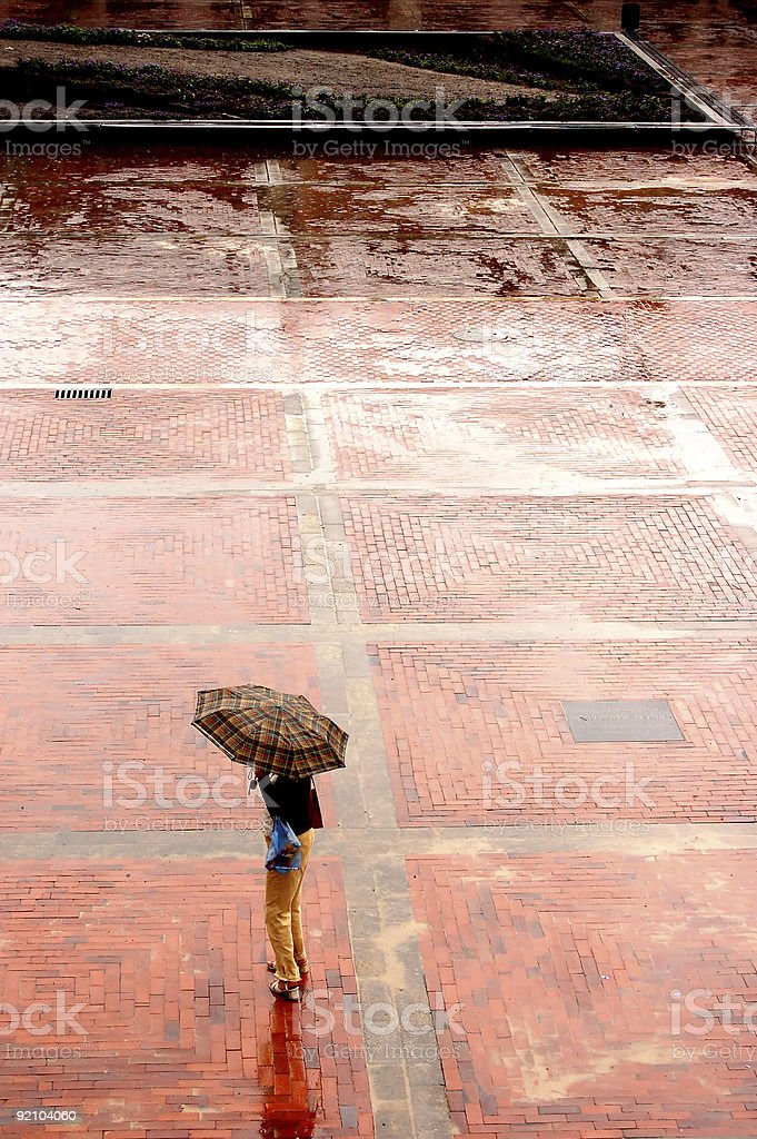 Alone in the rain royalty-free stock photo