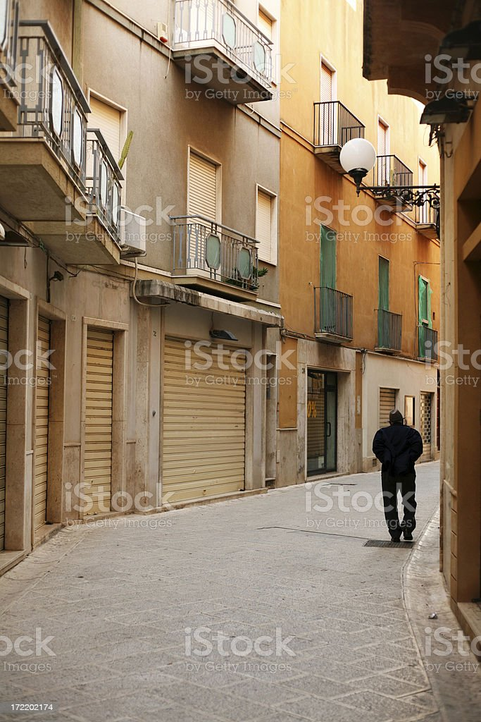 alone in the street royalty-free stock photo
