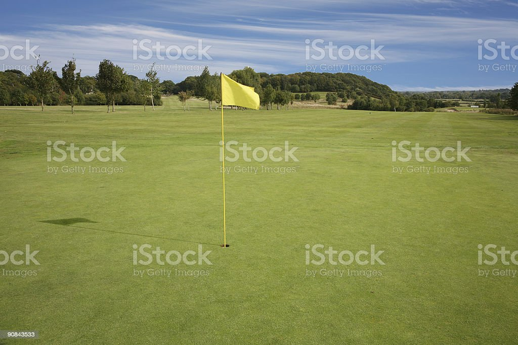 Alone on the Course royalty-free stock photo